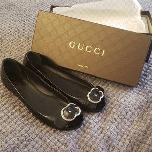 Gucci Salandina Peep Toe Flat